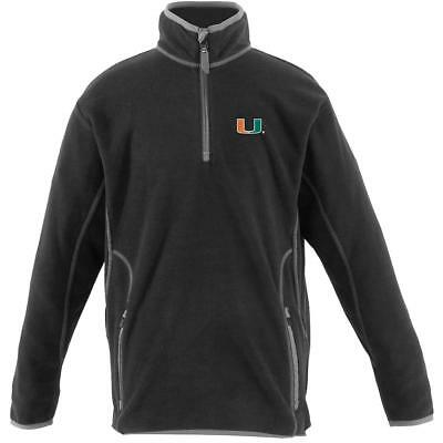 Antigua Youth Miami Hurricanes Ice Long Sleeve Pullover