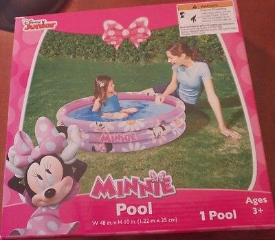 New 48 inch x 10 inch Disney Minnie Mouse Clubhouse Inflatable Baby Kid Pool