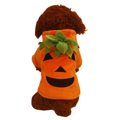 Pet Clothes Funny Pumpkin Puppy Cosplay Costume Halloween Party Christmas Gift