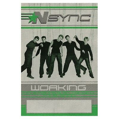 NSYNC Authentic 2000 No Strings Attached Tour Backstage Pass Justin Timberlake