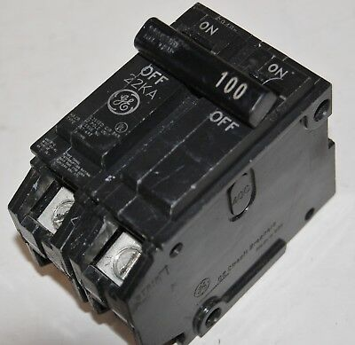 General Electric GE 2 Pole 100 Amp 120/240VAC, 22KA, Plug-in -THQl21100 Breaker