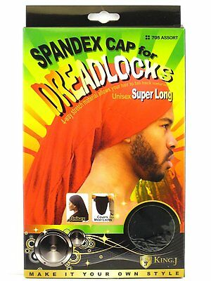 King J Spandex Cap for Dreadlocks Unisex Cover Loc Super Long #705 Assort Colors