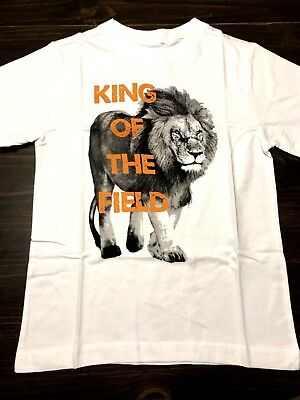 King of the Field Lion Gymboree Boys Size 4 White Shirt Sports NWT GYM8