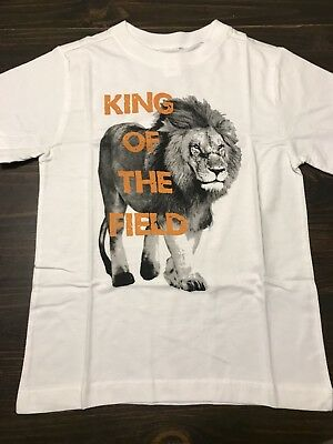 King of the Field Gymboree Boys Size 6 White Shirt Lion Sports NWT GYM8