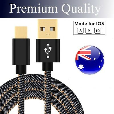 USB Charger Cable For iPhone 5 6 7 8 Plus Fast Charging Lead Braided iPad iPod