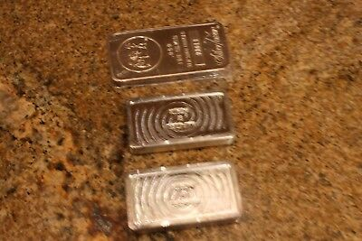 Scottsdale Silver Bars (Qty 2 10 OZ each) and Silver Towne Silver Bar (10 Oz) -