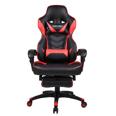 Office Racing Chair Gaming Computer Seat High Back Executive Arm Footrest Rocker