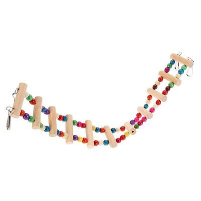 Flexible Bird Ladder Wooden Rainbow Bridge for Parrots Colorful Ladder Bird Trai