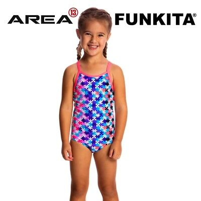 Funkita Party Pieces Toddler Girls Printed One Piece , Toddler Girls One Piece S