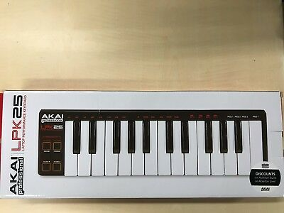 Akai Professional USB MIDI keyboard 25 keys (Mac / PC compatible) LPK 25