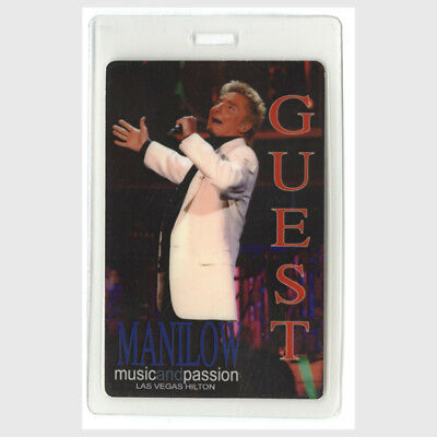 Barry Manilow authentic 2006 Laminated Backstage Pass Music Passion Las Vegas