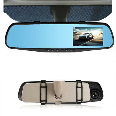 1 Pcs Rearview Mirror Night Vision Full HD 3.8 inch Tachograph Driving Recorder