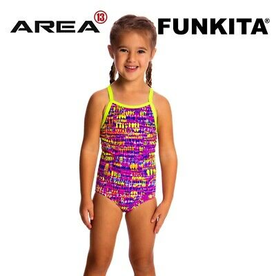 Funkita Dotty Dash Toddler Girls Printed One Piece , Toddler Girls One Piece Swi