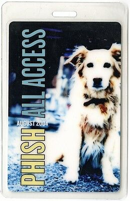 Phish authentic 2004 concert tour Laminated Backstage Pass ALL ACCESS