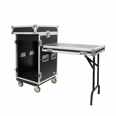 Seismic Audio-SAMRWT-16U-16 Space Rack Case with 10 Space Slant Mixer Top and...