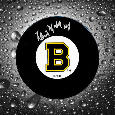 Fleming MacKell Boston Bruins Autographed Puck