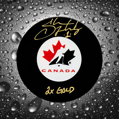 Shannon Szabados Team Canada 2x GOLD Autographed Puck