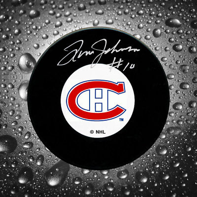 Tom Johnson Montreal Canadiens Autographed Puck