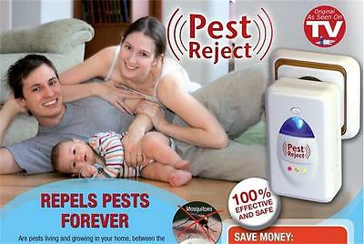 2pc Pest Controller Reject Mice  Spider Insect Ultrasonic Repeller Repellent F k