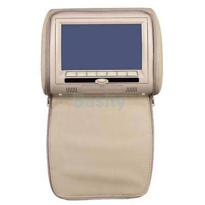 "7"" Car Headrest Monitors w/DVD Player/USB/IR Remote SD Games Headphone Beige"