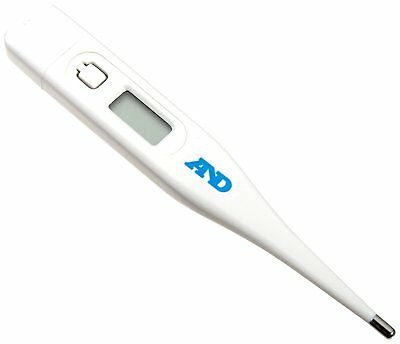 A&D Medical Oral Underarm Rectal Lightweight Digital Thermometer + Carry Case