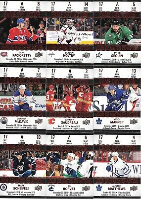 U PICK EM LOT 17-18 2017-18 Tim Hortons Game Day Action Set Cards #GDA1-15