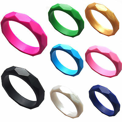 CH Silicone Newborn Baby Kids Teether Teething Jewelry Bangle Bracelets Fashion
