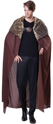 Bristol Novelty AC132 Brown Deluxe Men's Plush Collar Cape (One Size)