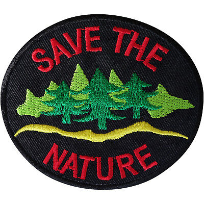 Save the Nature Patch Iron Sew On Clothes Embroidered Badge Embroidery Applique