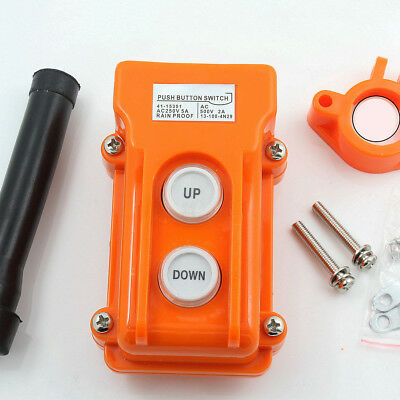 Crane Pendant Control Hoist Pushbutton Switch Station Up-Down Rainproof Button