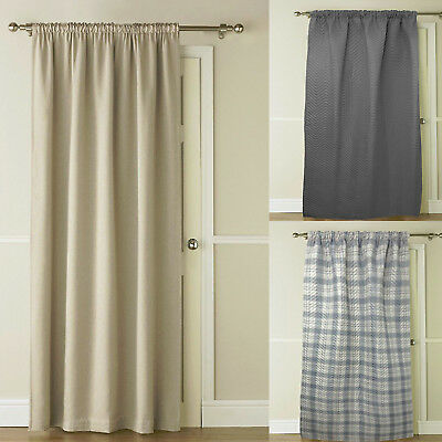 Luxury Self-Lined Blackout Material Thermal Door Window Curtain Energy Saving