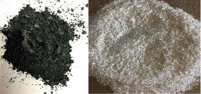 RESIN4ART Metallic Pigments: Black Pearl and Luxury Ultra-Sparkle White 25g each