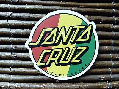 Santa Cruz Red Gold And Green Sticker Skateboard Thrasher Snowboard Rasta