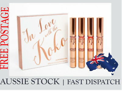 Kylie Jenner in Love with KoKo Lipstick Set with retail package (4PCS)
