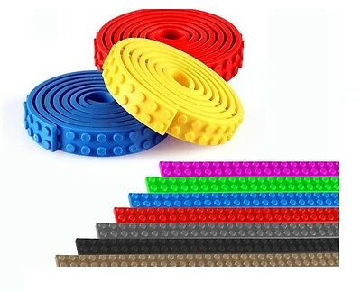 LEGO Tape 4 x 25 cm Flexible Compatible with LEGO BRICKS Sticky Tape Multi Color