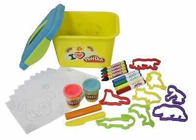 Play-Doh My Little Workshop with Storage Box, Modeling Clay, Stools, Pencils and