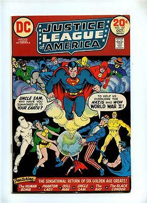 Justice League of America #107 - DC 1973 - FN+ G.A. Uncle Sam Human Bomb The Ray