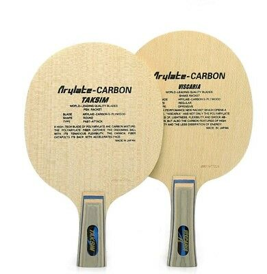 Boer VISCARIA Blade Wood and Carbon 7 layers Table tennis racket Ping Pong FL CS