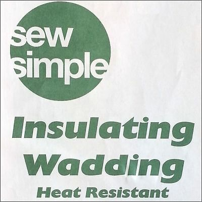 Sew Simple Heat Resistant Wadding 57cm Wide By The Half Metre