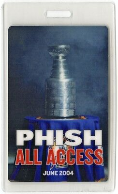 Phish authentic 2004 concert tour Laminate Backstage Pass Stanley Cup ALL ACCESS