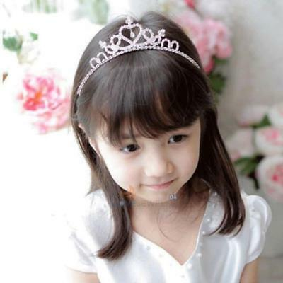 Rhinestone Crystal Tiara Hair Band Kid Girl Bridal Princess Prom Crown Crystal