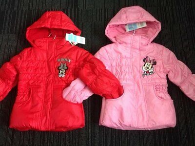 Minnie Mouse Girls Coat Padded Hooded Winter Jacket