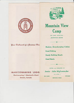 5 Vintage Travel Brochures Manitoulin Island with a Vintage Turners Map