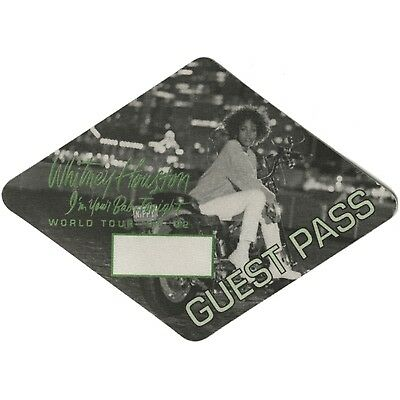 Whitney Houston authentic 1991 I'm Your Baby Tonight Tour Backstage Pass guest
