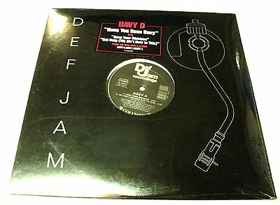 """Davy D Still Sealed Unplayed 1987 Usa 12"""" Def Jam Have You Seen Warehouse Find !"""