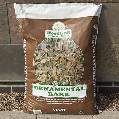 Ornamental Spruce Bark Mulch XL 70 litres