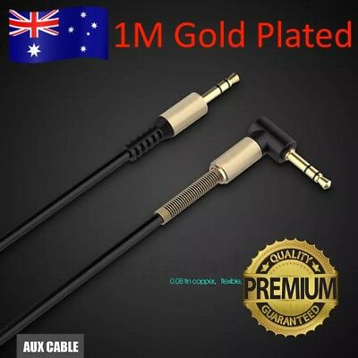 Aux Cable 3.5mm Male to Male Cord L-Shaped Right Angle Car Audio Headphone Jack