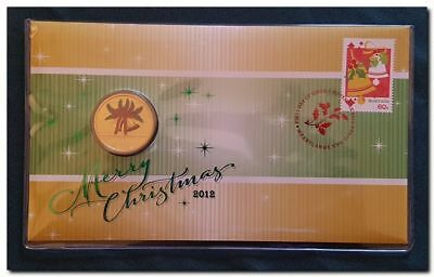2012 Merry Christmas FDC/PNC With Limited Edition $1 Coin