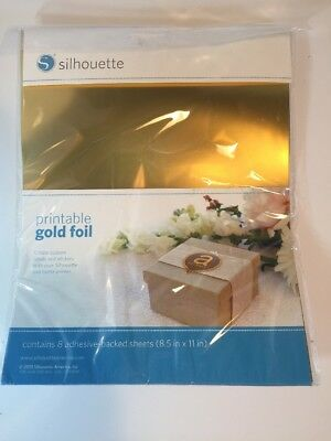 photo about Silhouette Printable Gold Foil titled SILHOUETTE PRINTABLE ADHESIVE Foil 8.5\