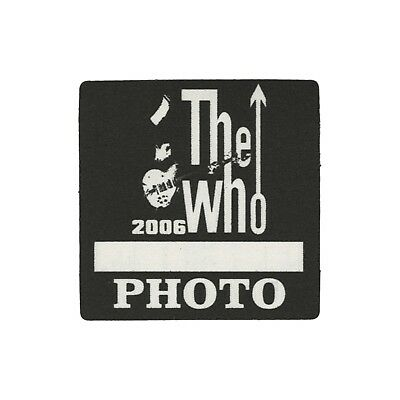 The Who authentic 2006 Endless Wire tour satin cloth Backstage Pass band photo